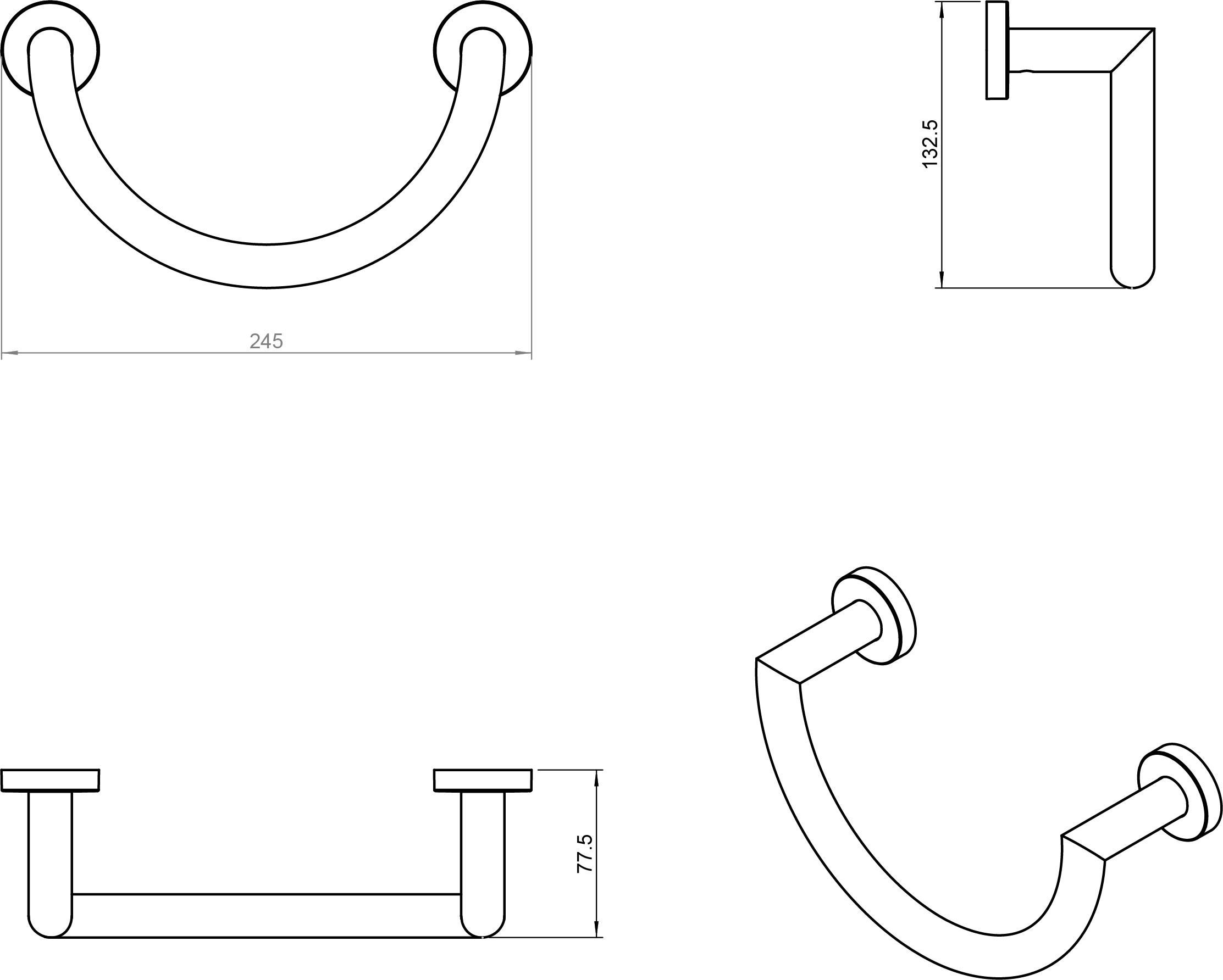 Kubic Cool Towel Ring