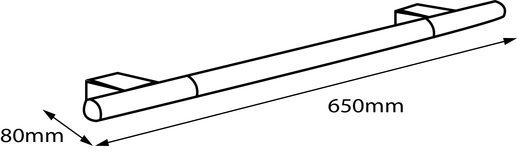 Iside Towel Rail (650mm)