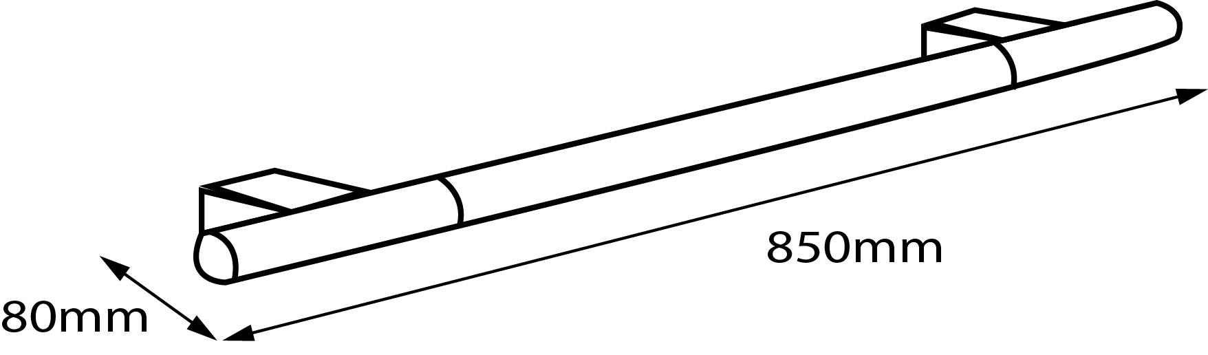 Iside Towel Rail (850mm)
