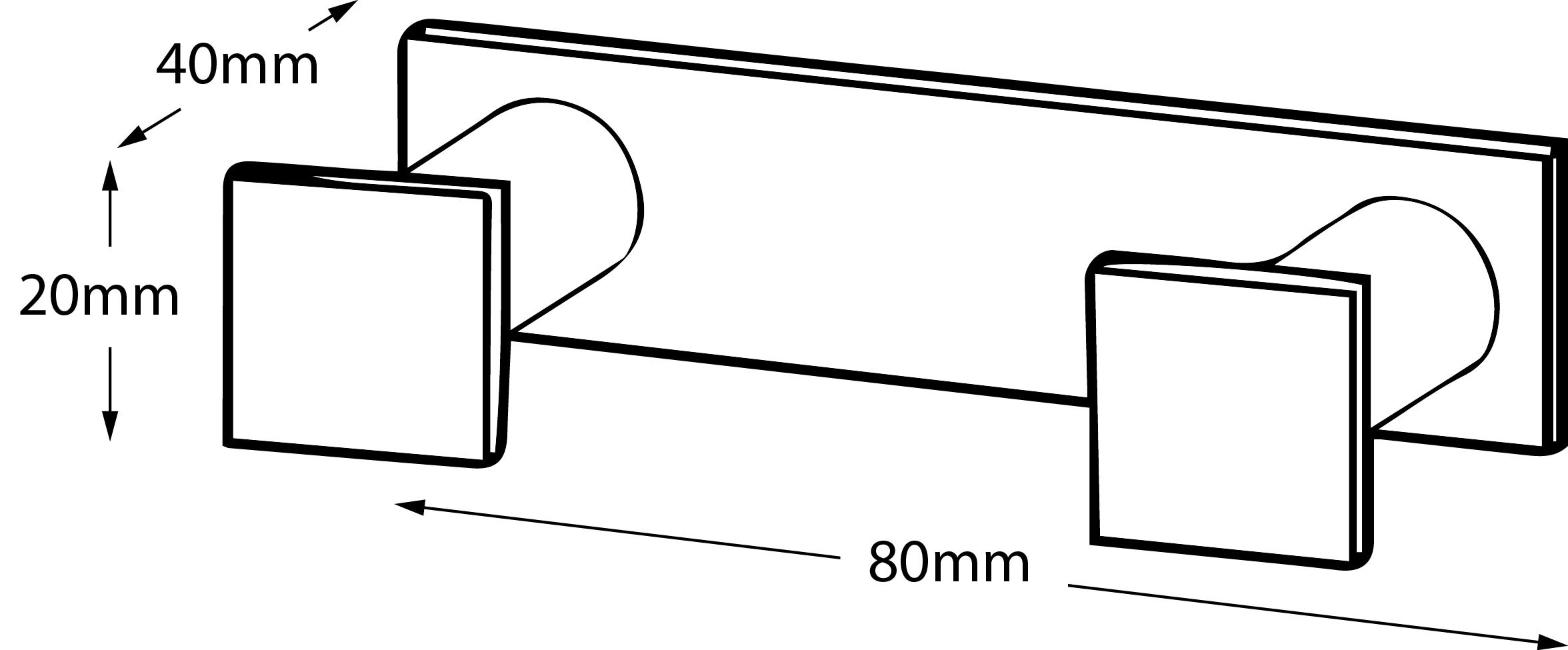 Metric Double Robe Hook