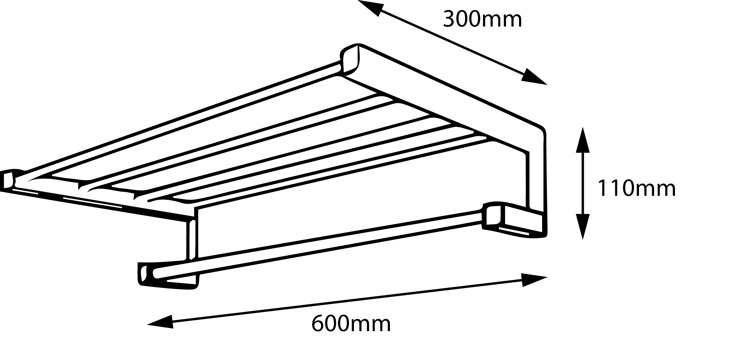 Metric Towel Rack
