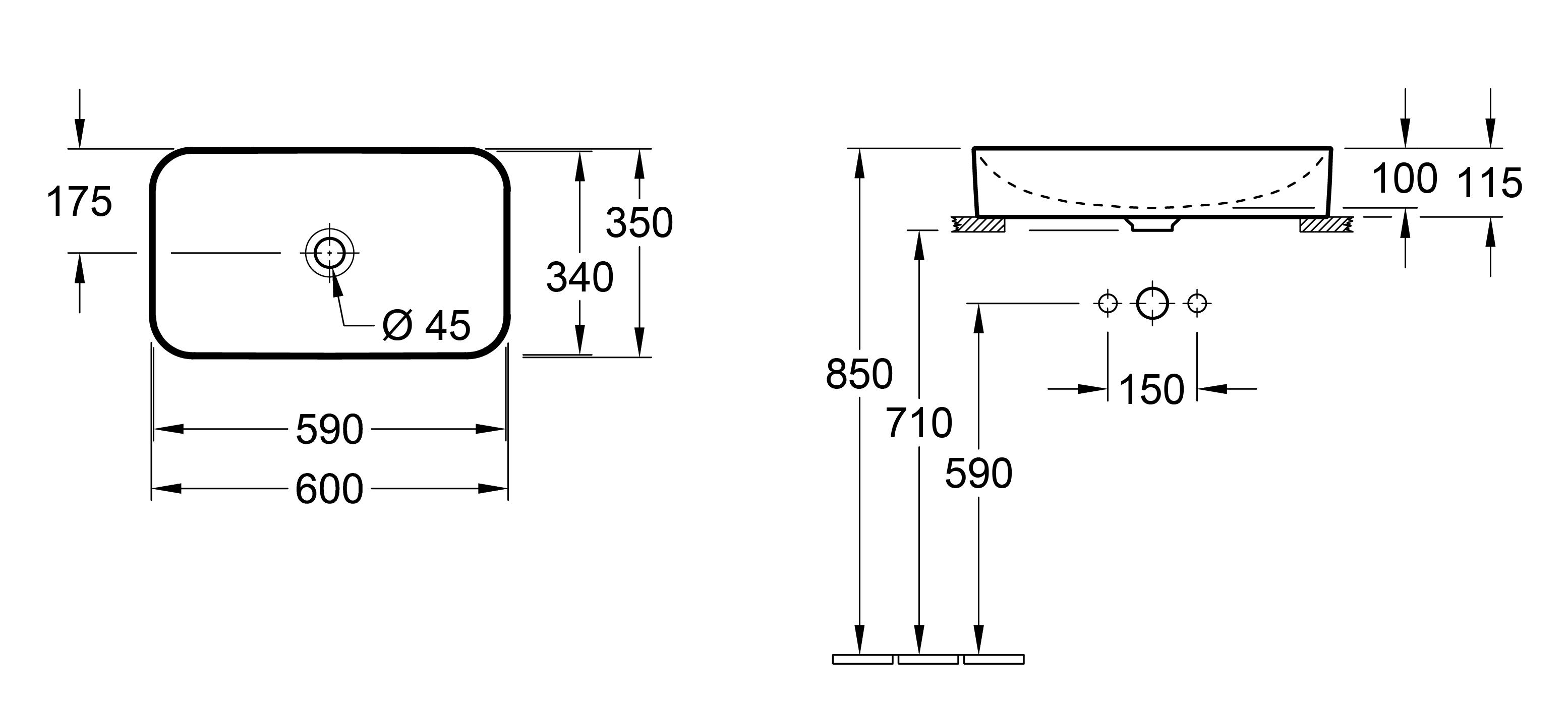 Finion 600 Vessel Basin