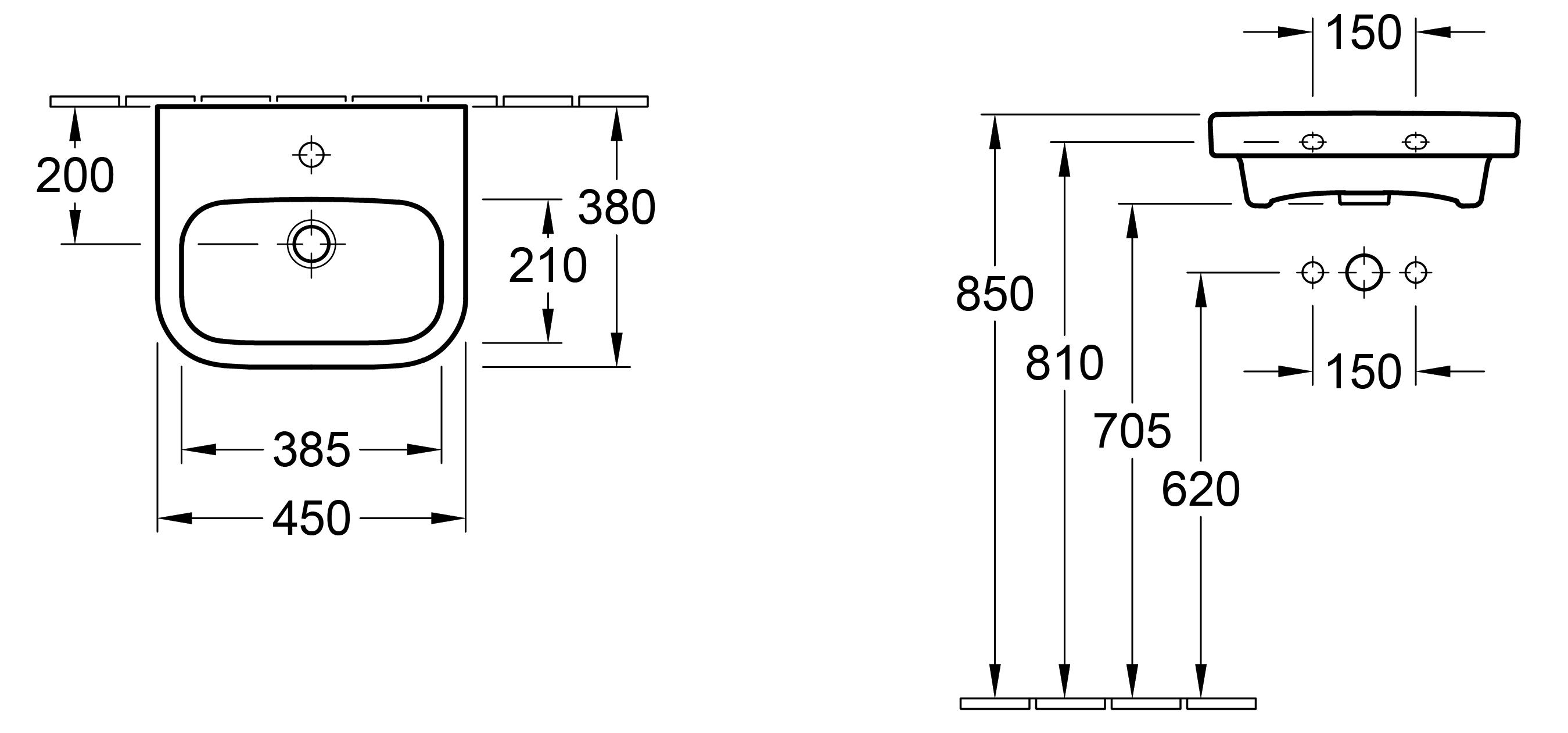 Architectura 450 Handwash Basin
