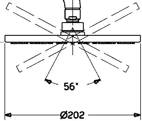 HansaViva 200 Round Overhead Shower Without Arm