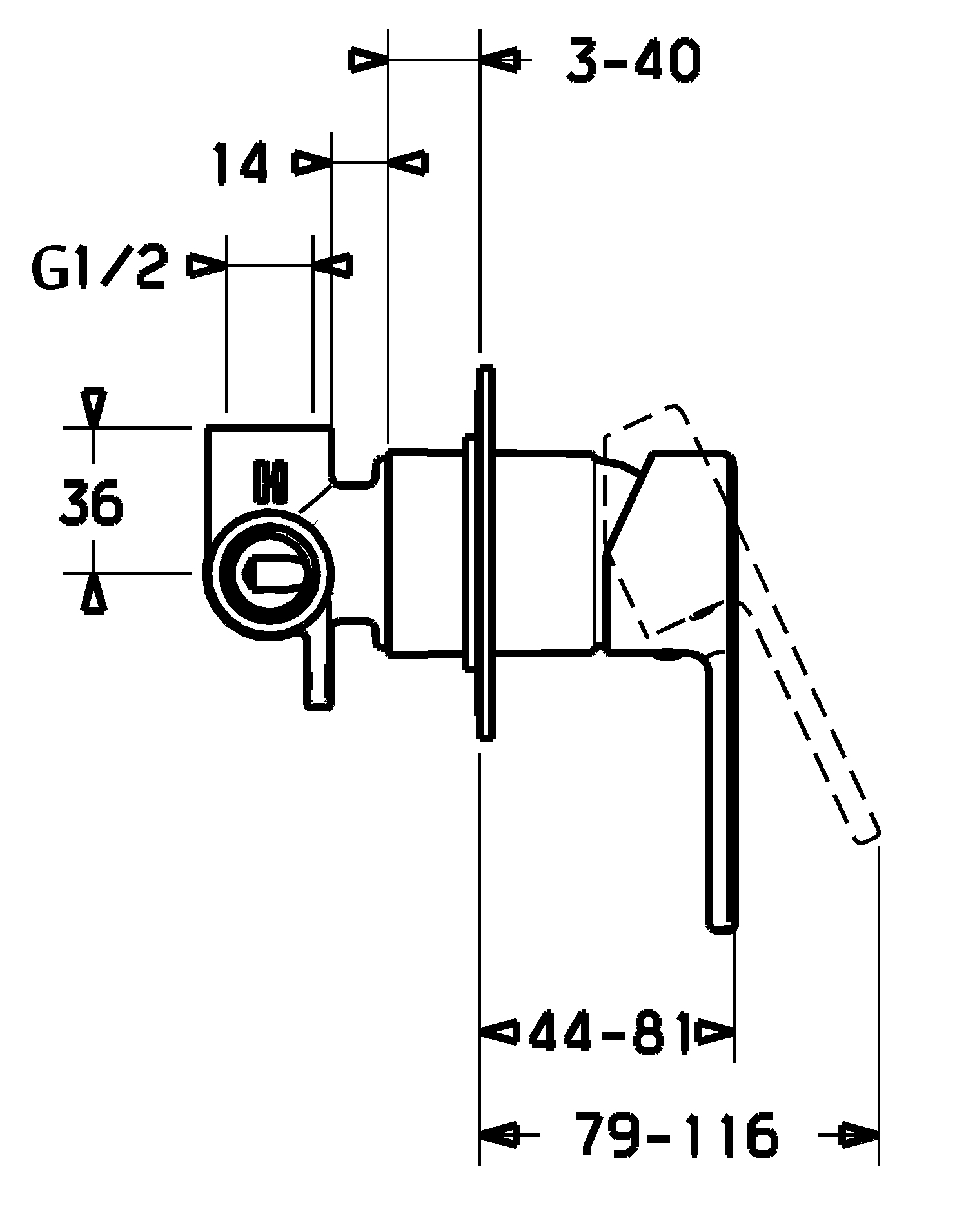 HansaLigna Quad Shower Mixer Trim