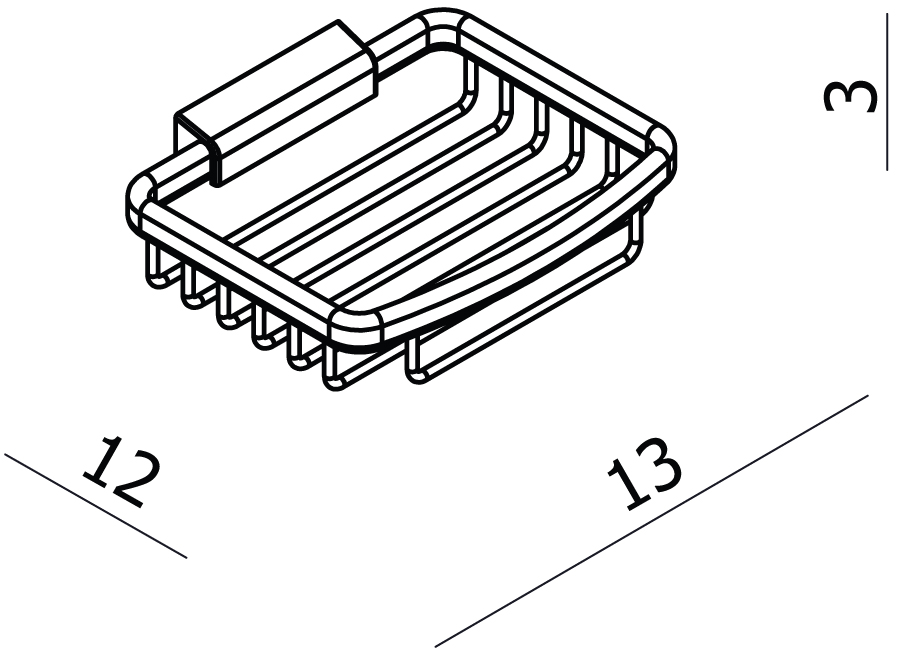 Universal Small Rectangular Soap Basket