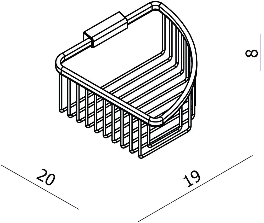 Universal Large Triangular Soap Basket