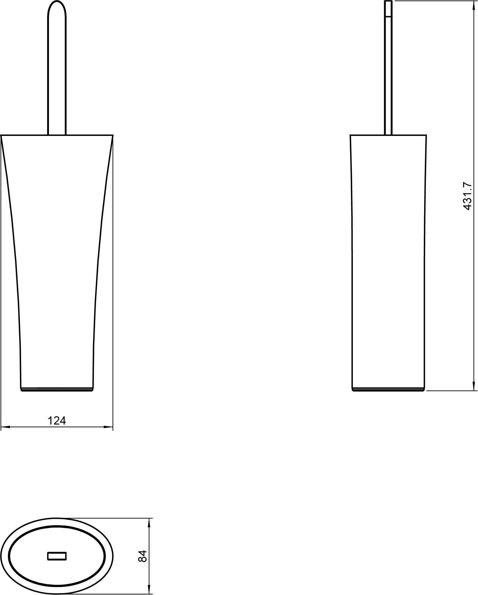 Belle Toilet Brush Set