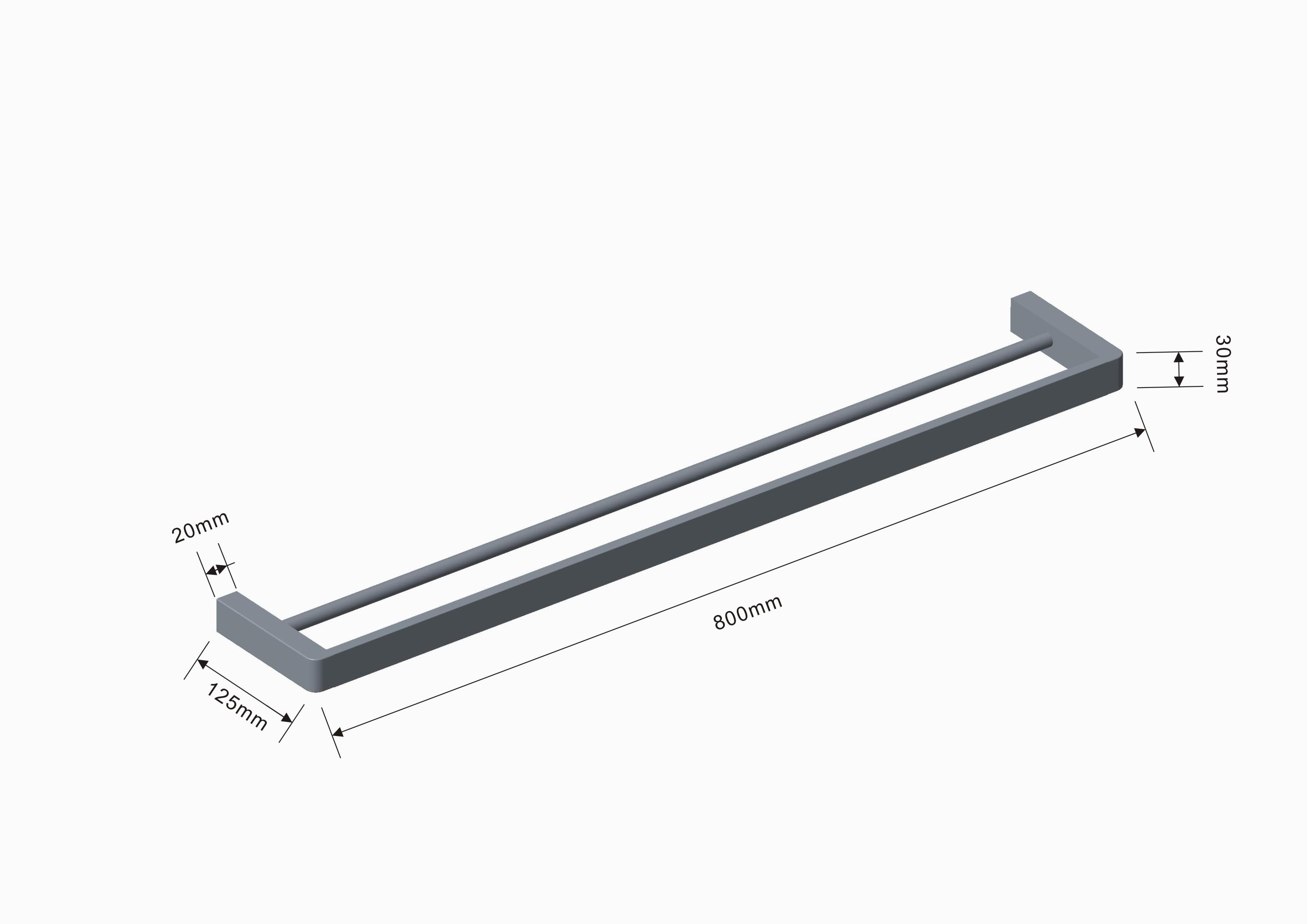 Mondrian Neu 800 Dbl Towel Rail
