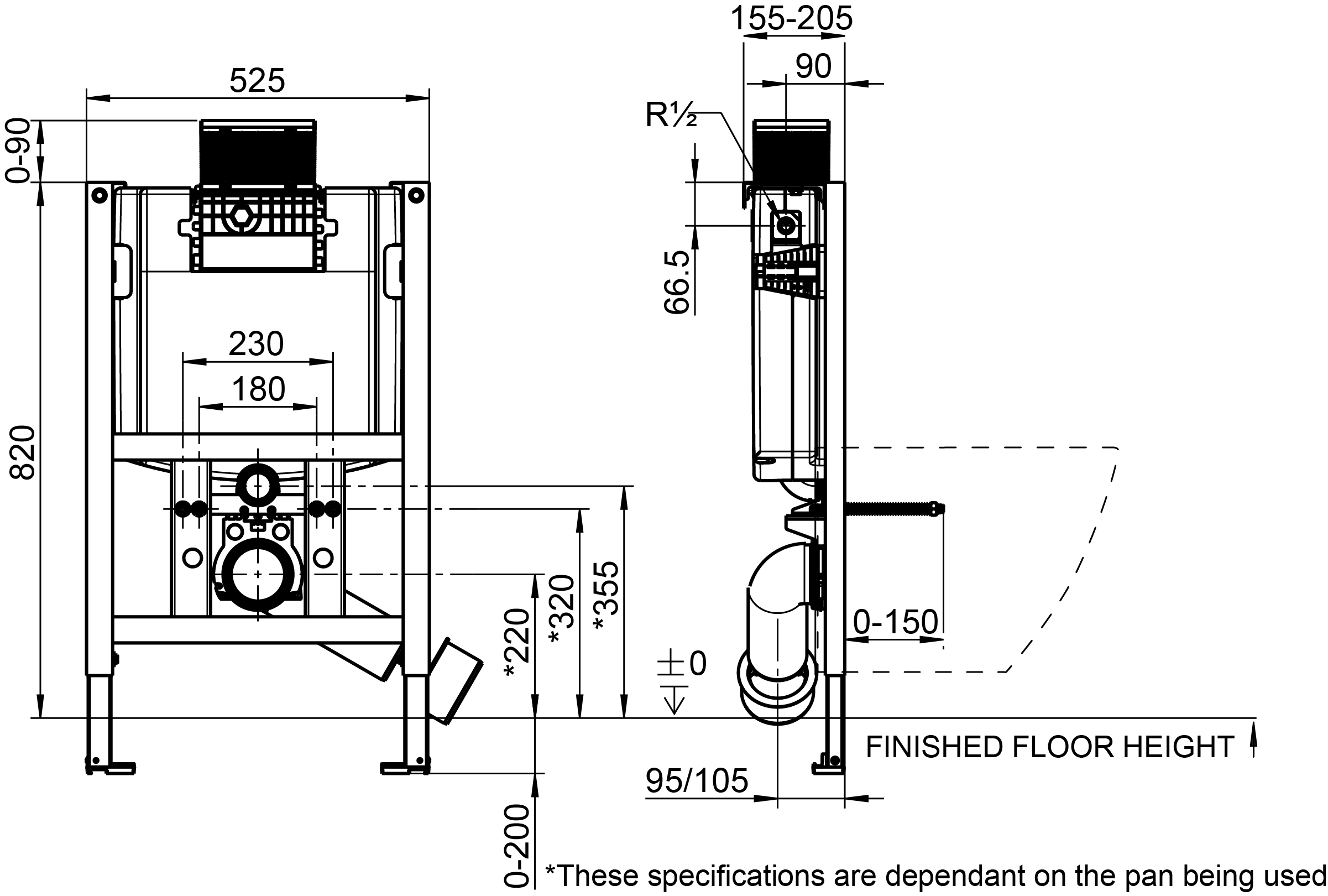 Viconnect Low Level Cistern & Frame
