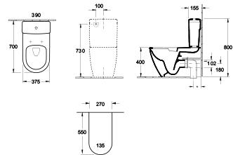 Architectura 2.0 DirectFlush BTW Toilet with Slim Seat