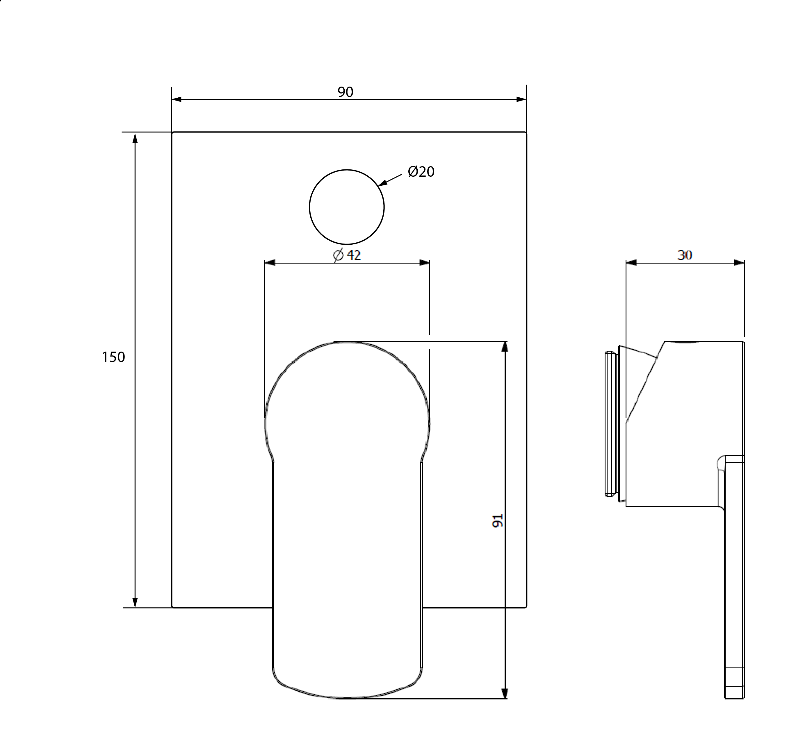 Architectura Diverter Mixer