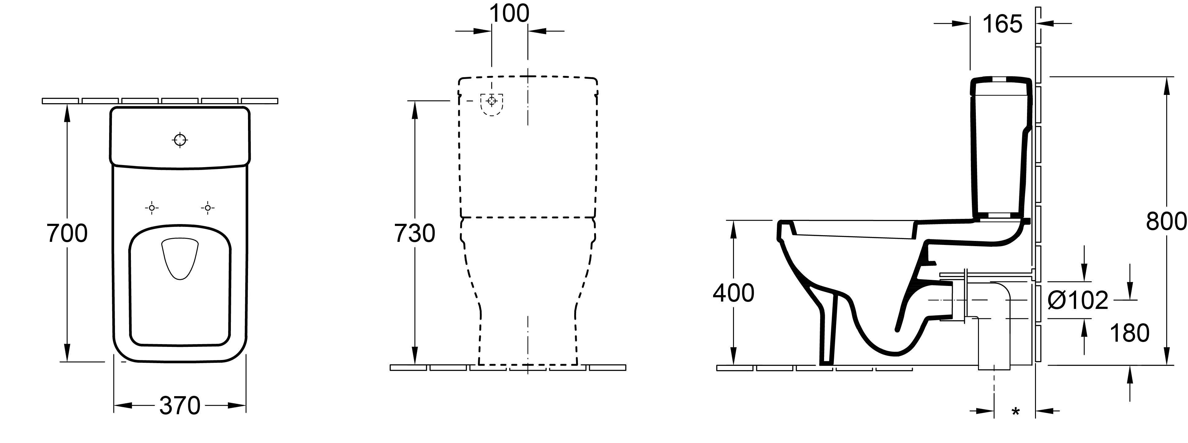 Architectura SQ BTW Toilet Suite