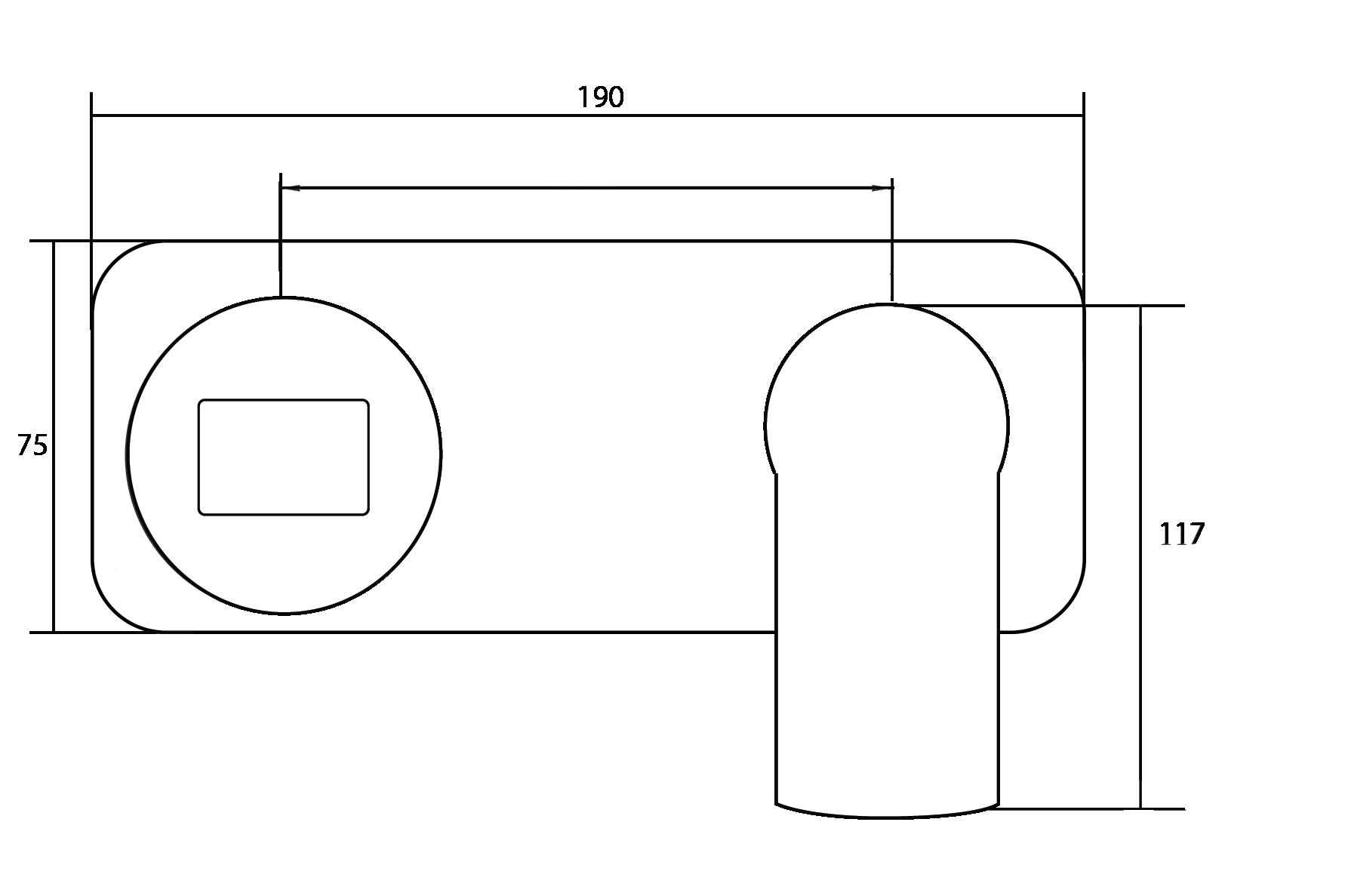 Architectura Wall Mounted Basin Mixer