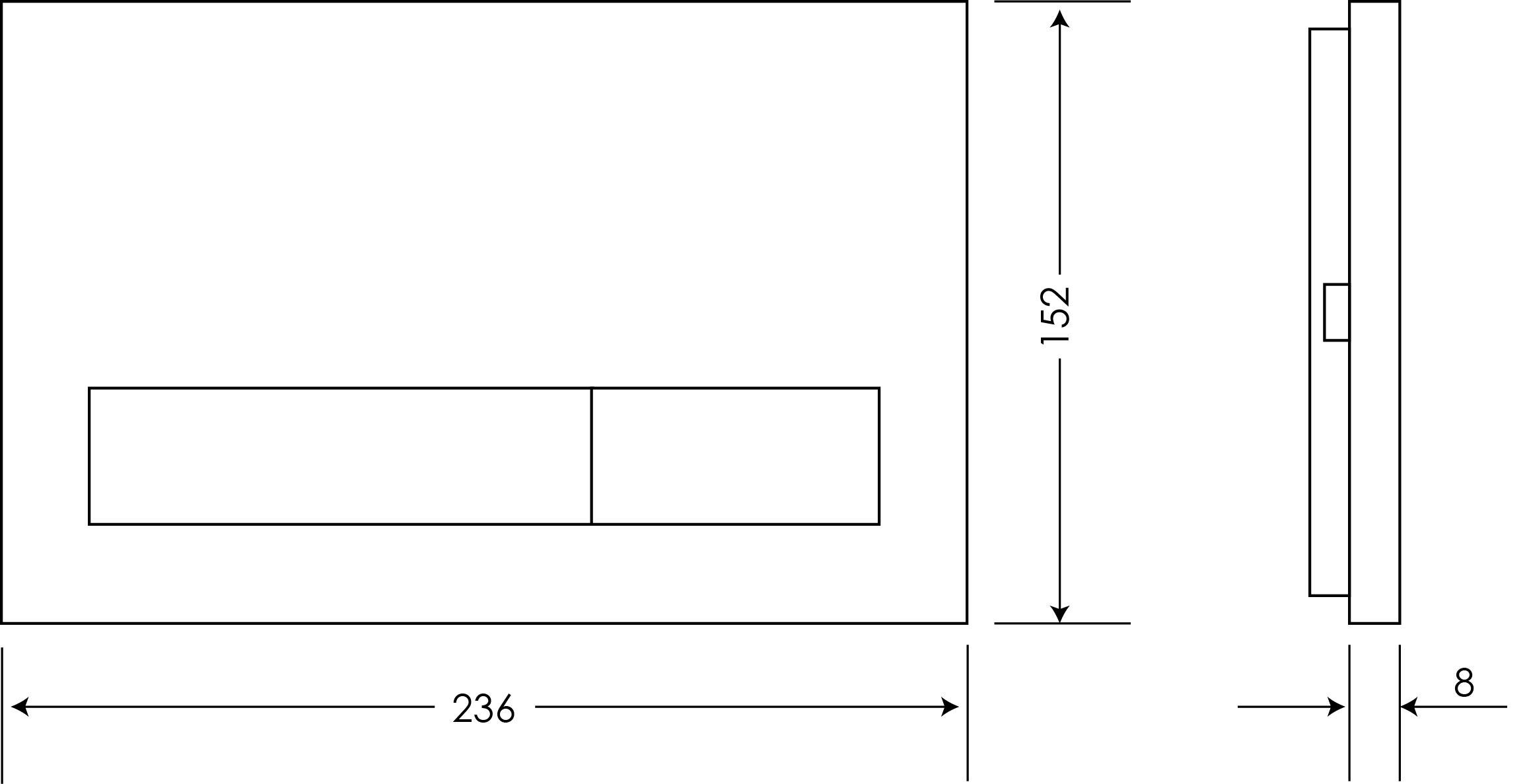 Argent Rectangular Flushplate - Dual Flushplate