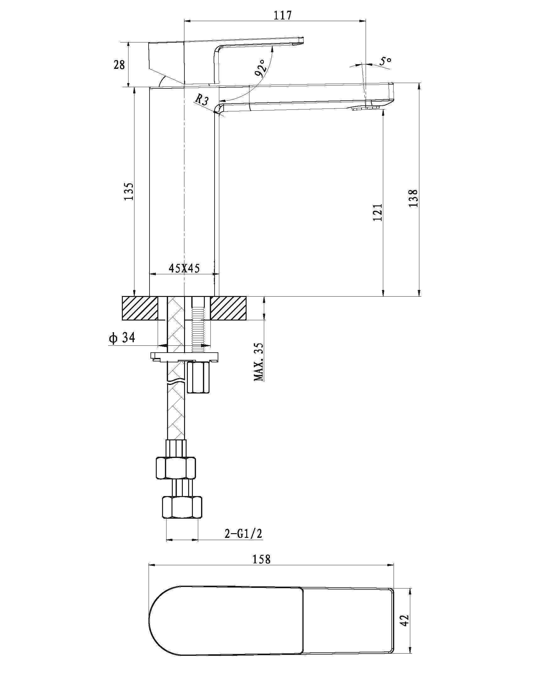 Evoke Basin Mixer