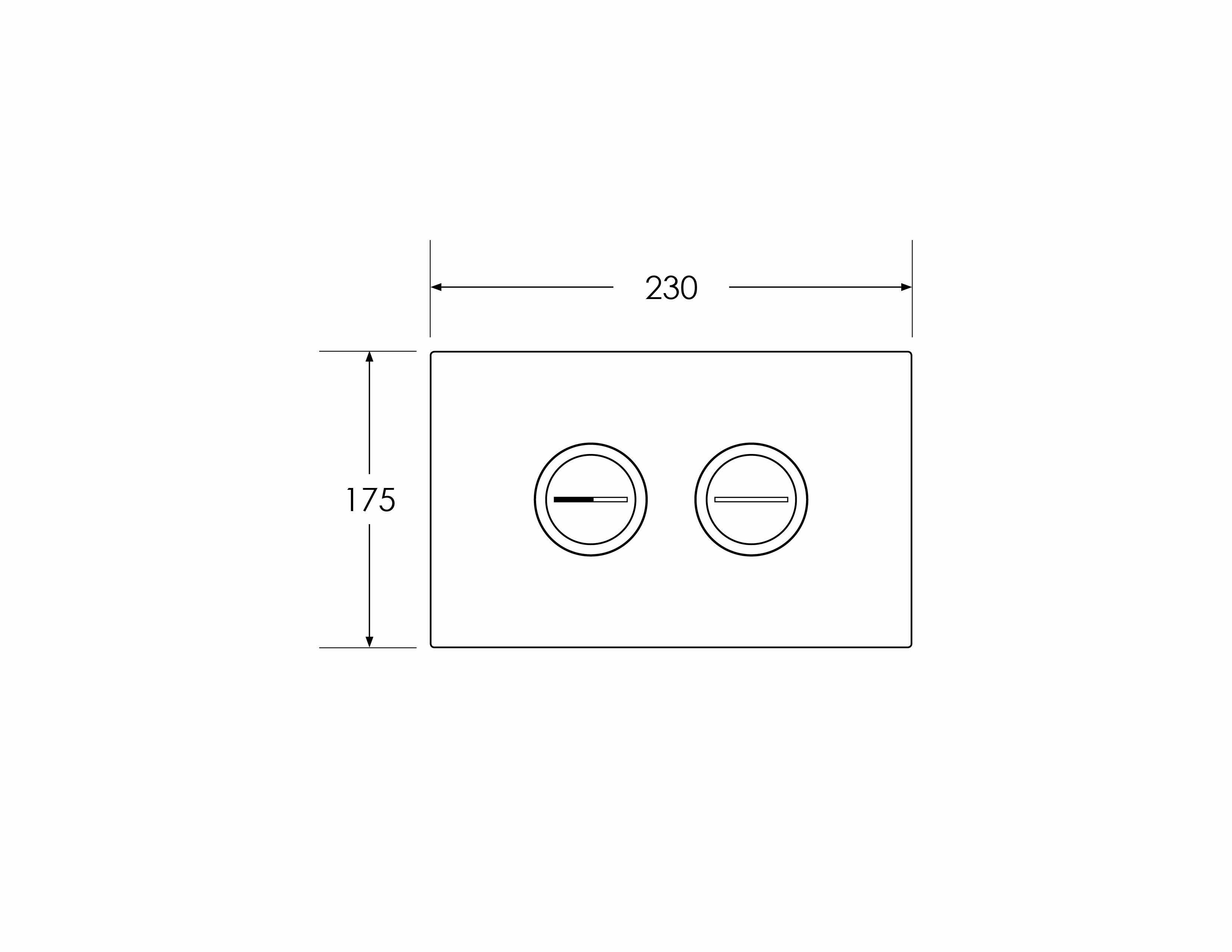 Focus Round Flushplate - Pneumatic