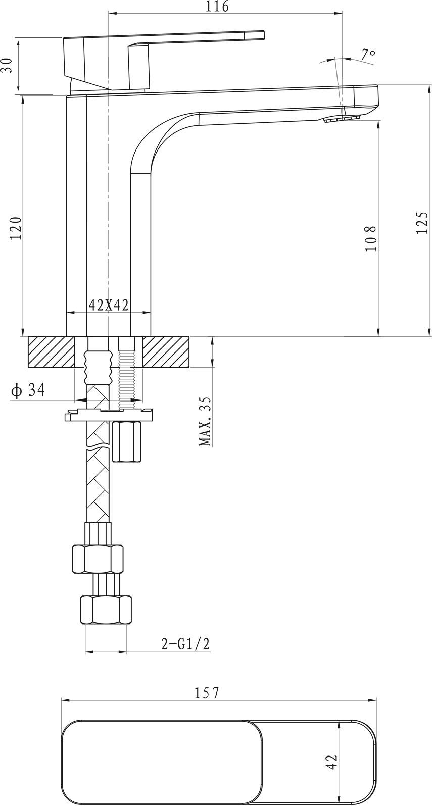 Kubic Basin Mixer