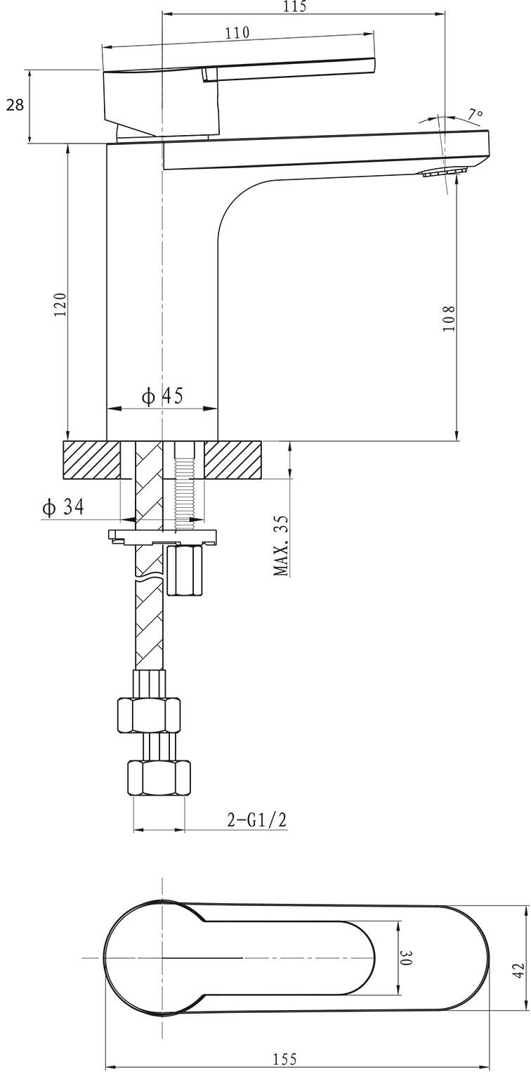 Loft Basin Mixer