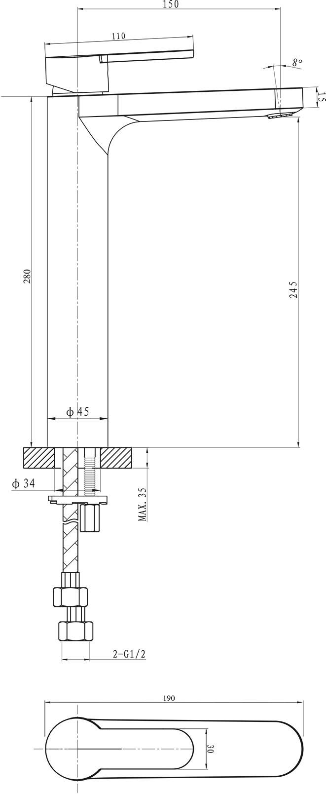 Loft Vessel Basin Mixer