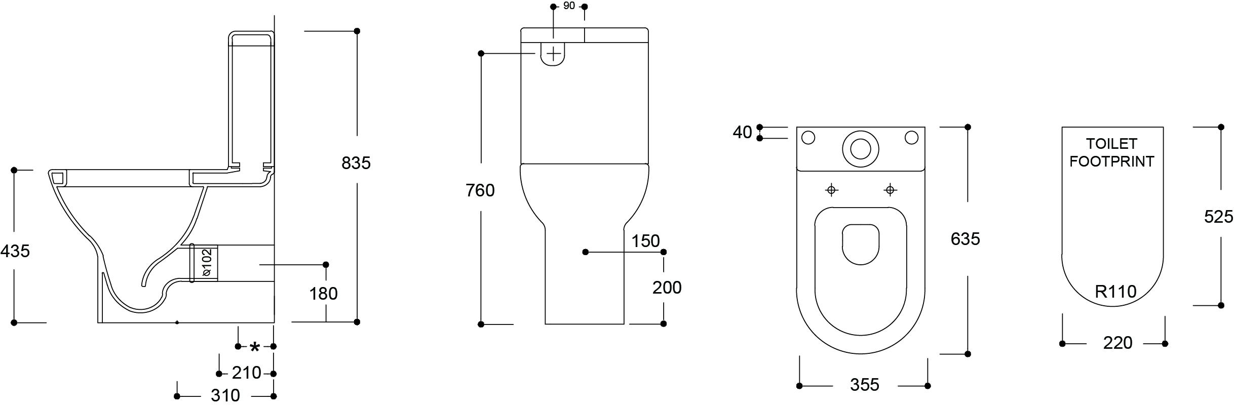 Mode Comfort Height BTW Toilet