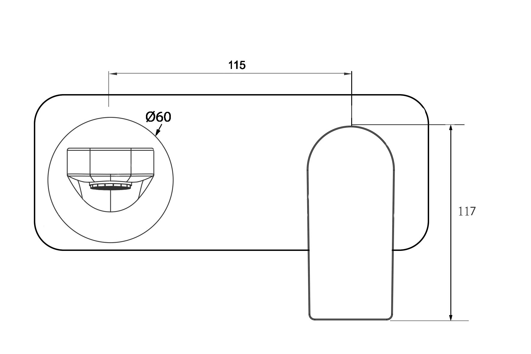 O.Novo Wall Mounted Basin Mixer