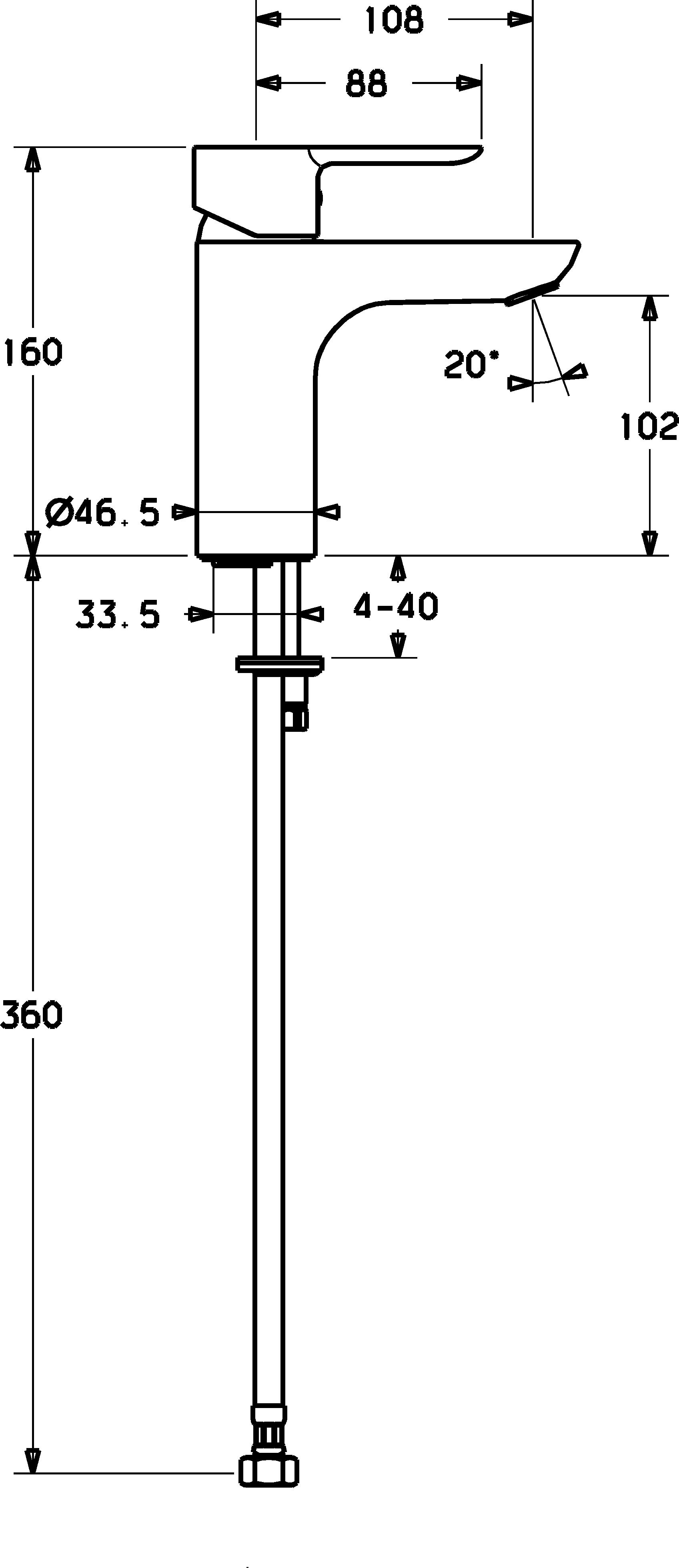 HansaLigna Basin Mixer - XL