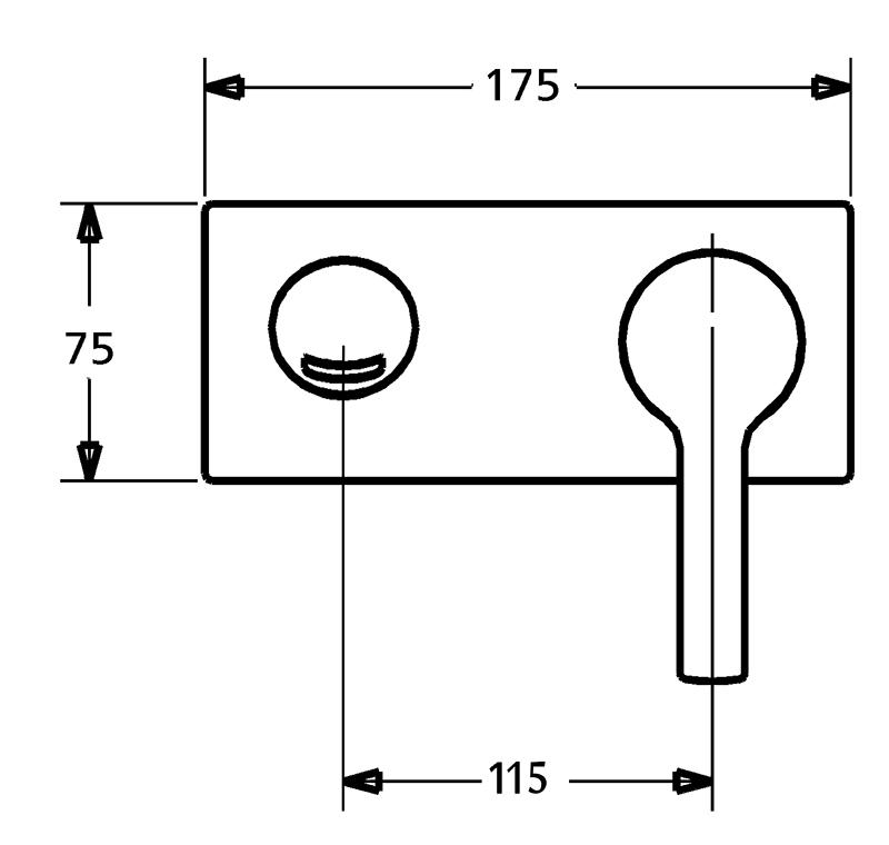 HansaTwist Loop Wall Mounted Basin/Bath Mixer