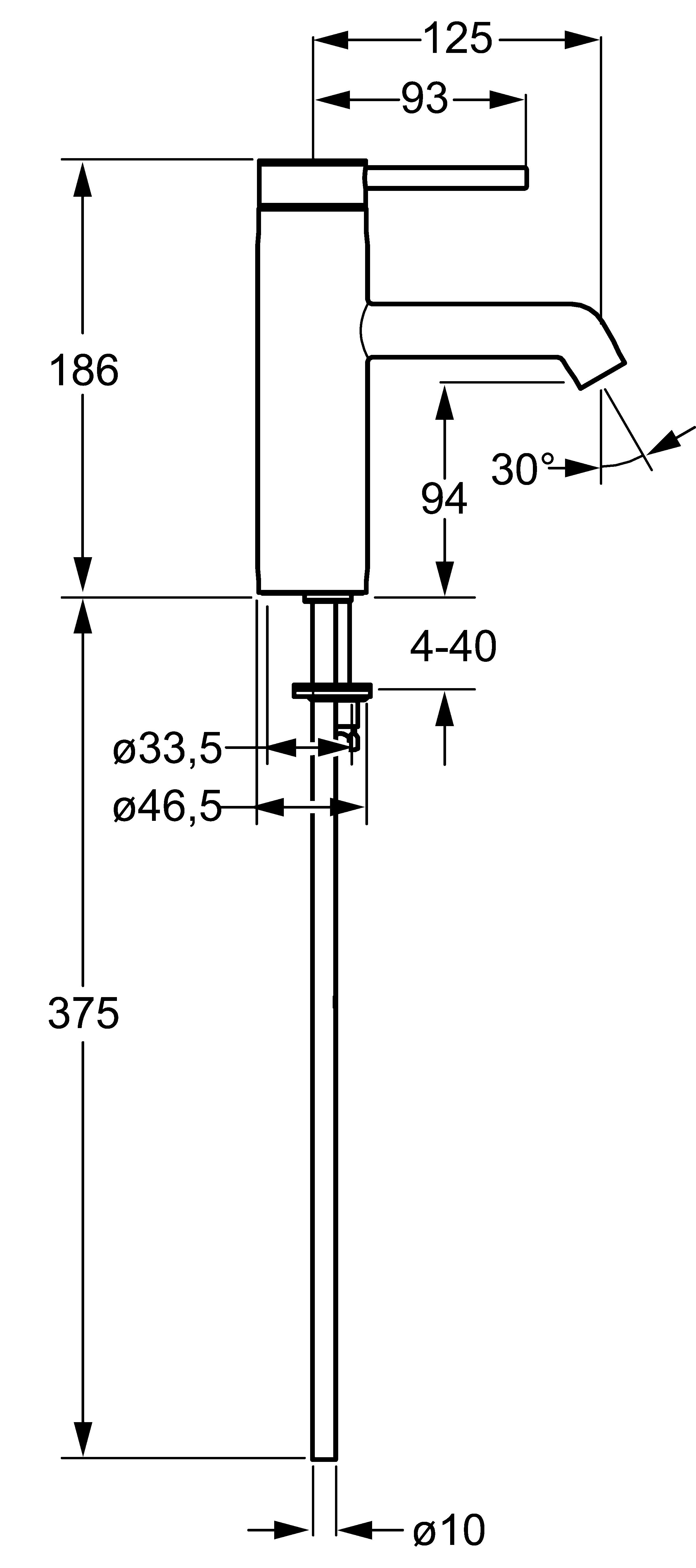HansaDesigno Basin Mixer