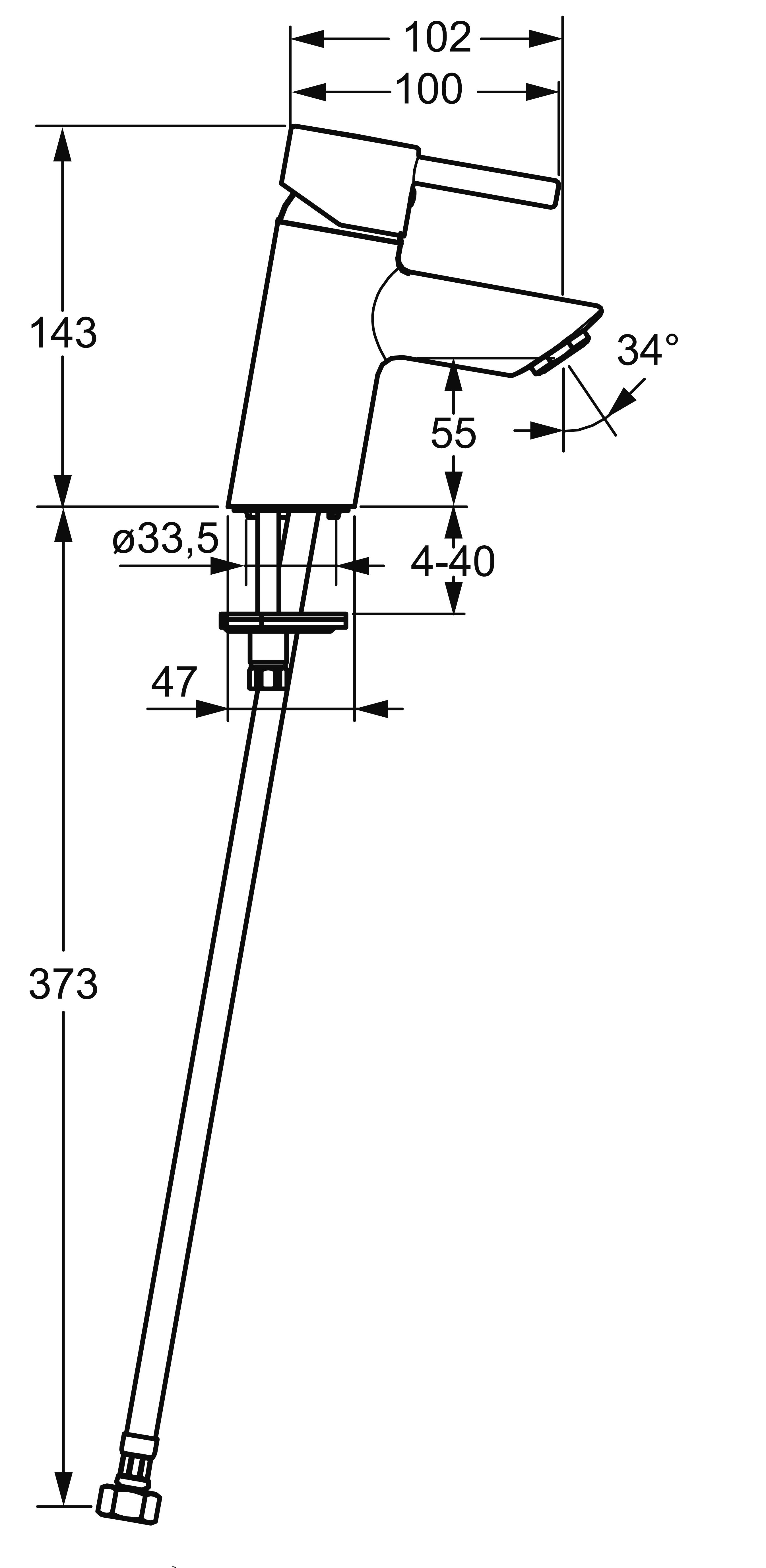 HansaVantis Pin Basin Mixer