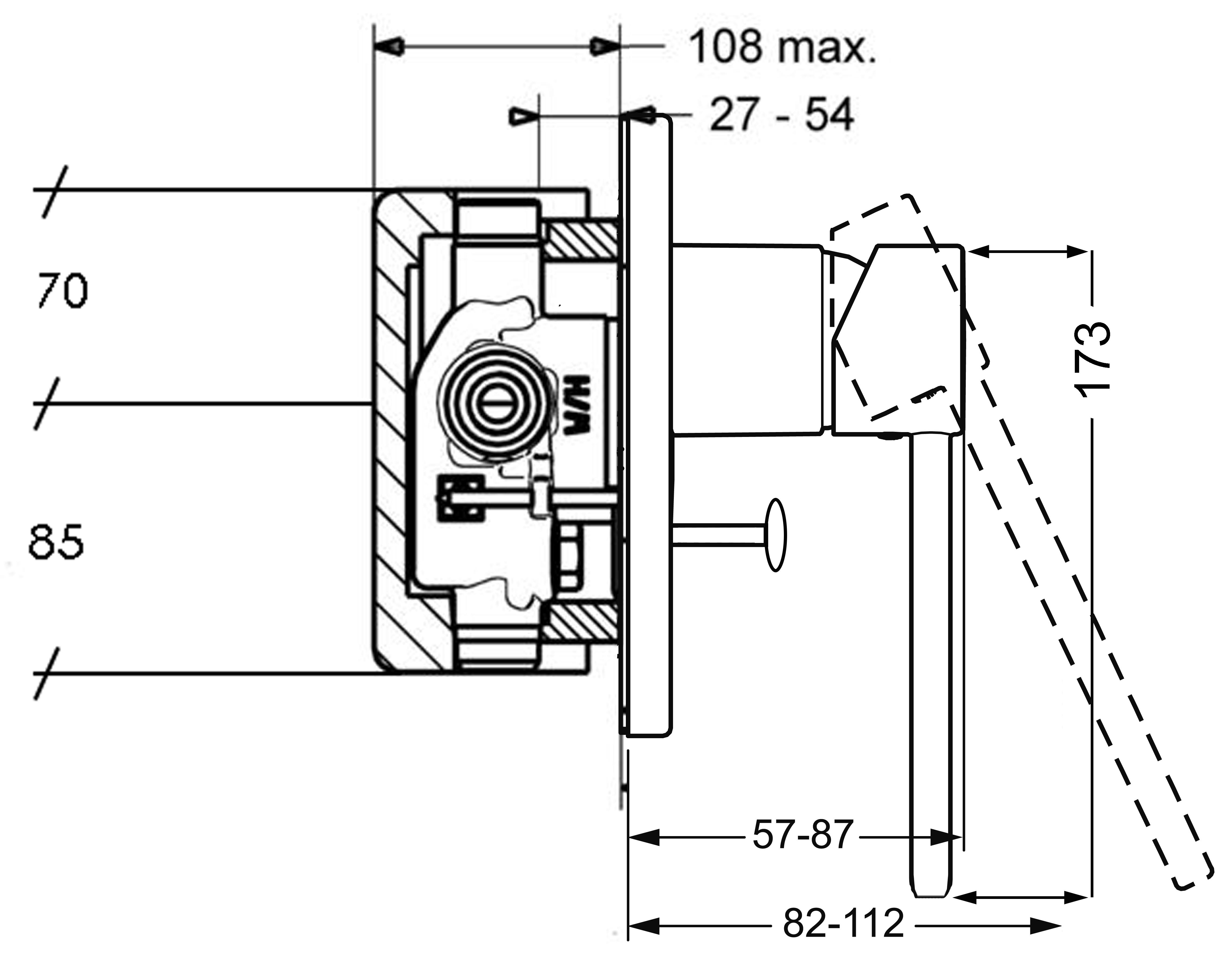 HansaMedica Prado Oval Diverter Mixer Trim