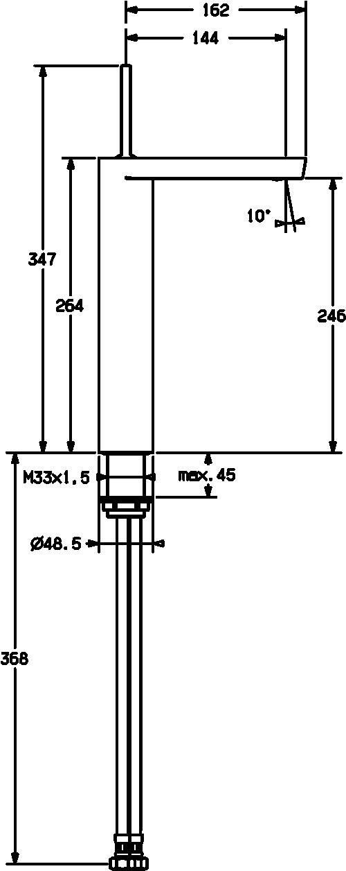 HansaStela Vessel Basin Mixer