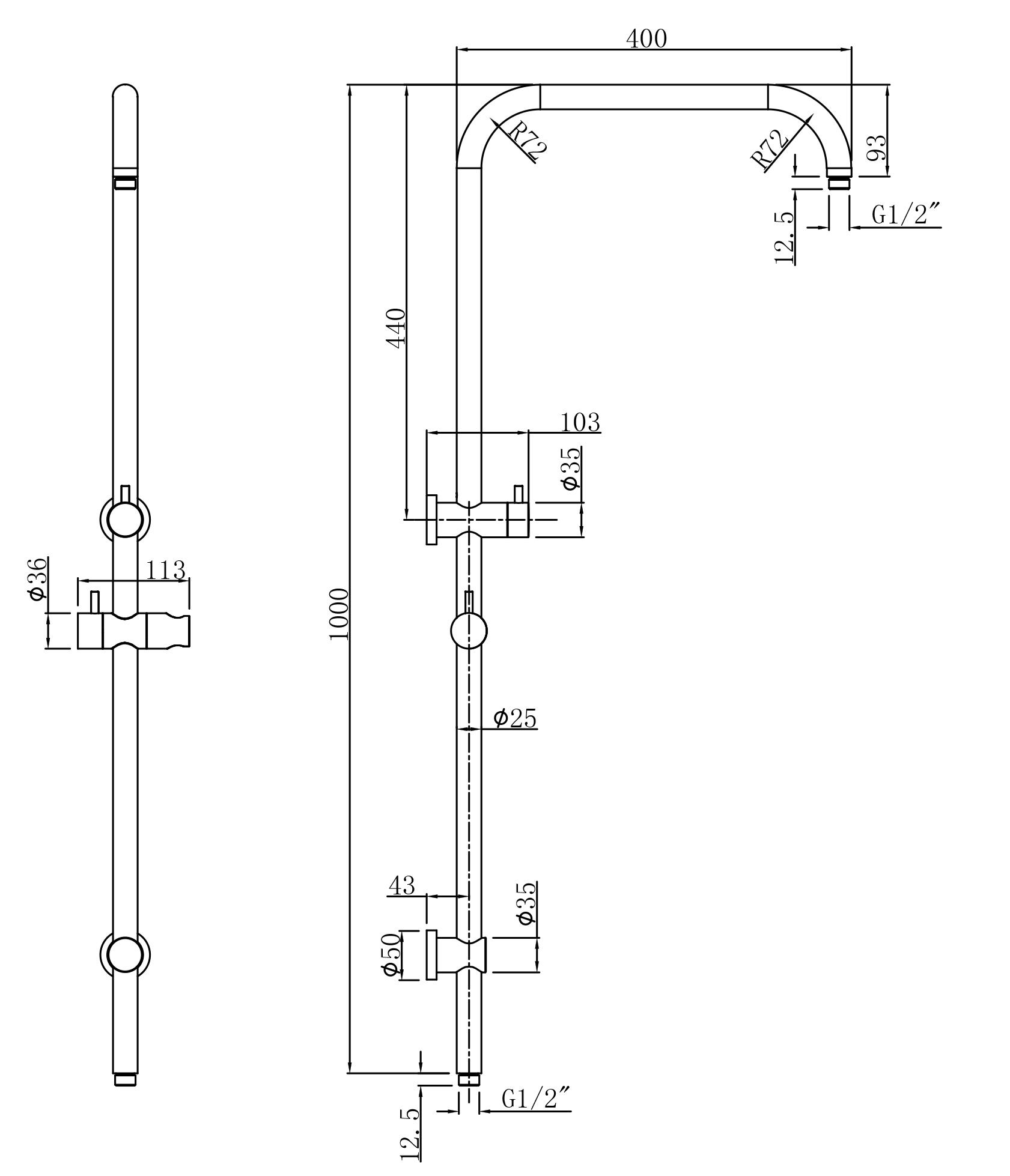 Pallas Shower System