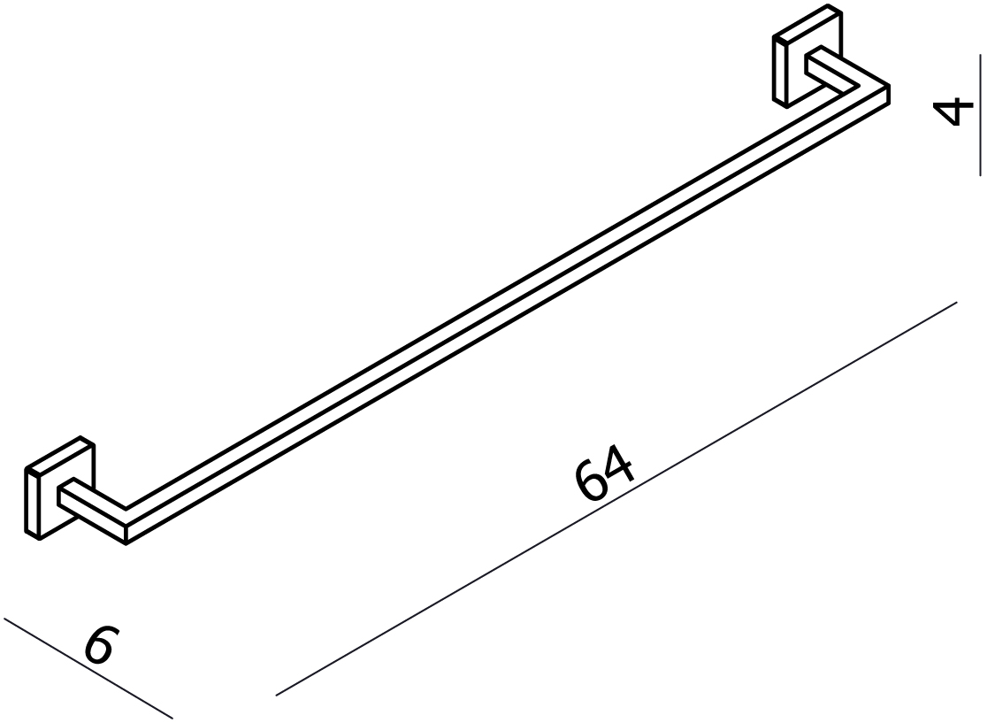 Line Towel Rail 600