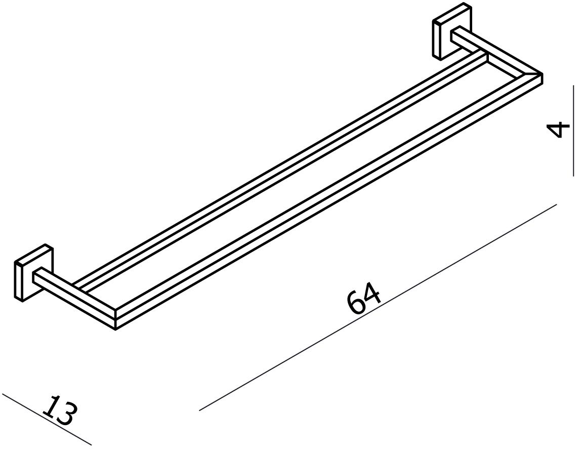 Line Double Towel Rail 600