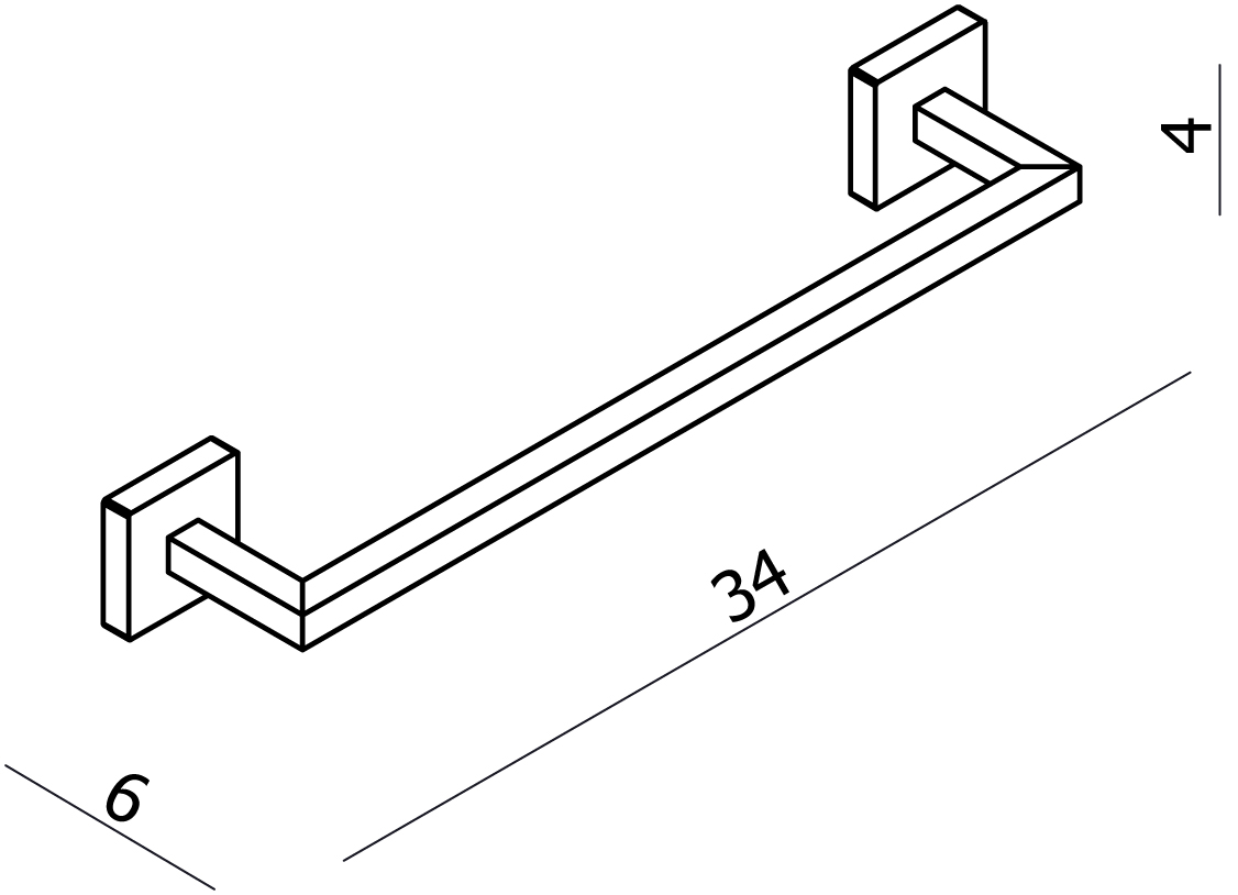 Line Hand Towel Rail