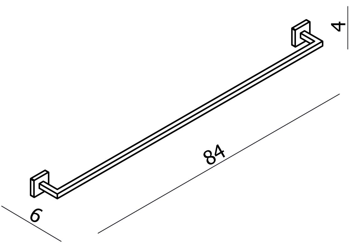 Line Towel Rail 800
