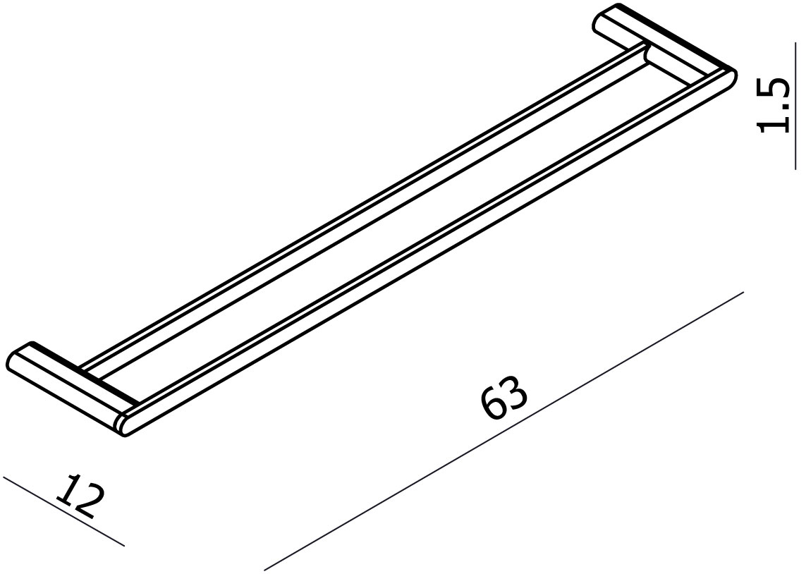 Loft Double Towel Rail 600