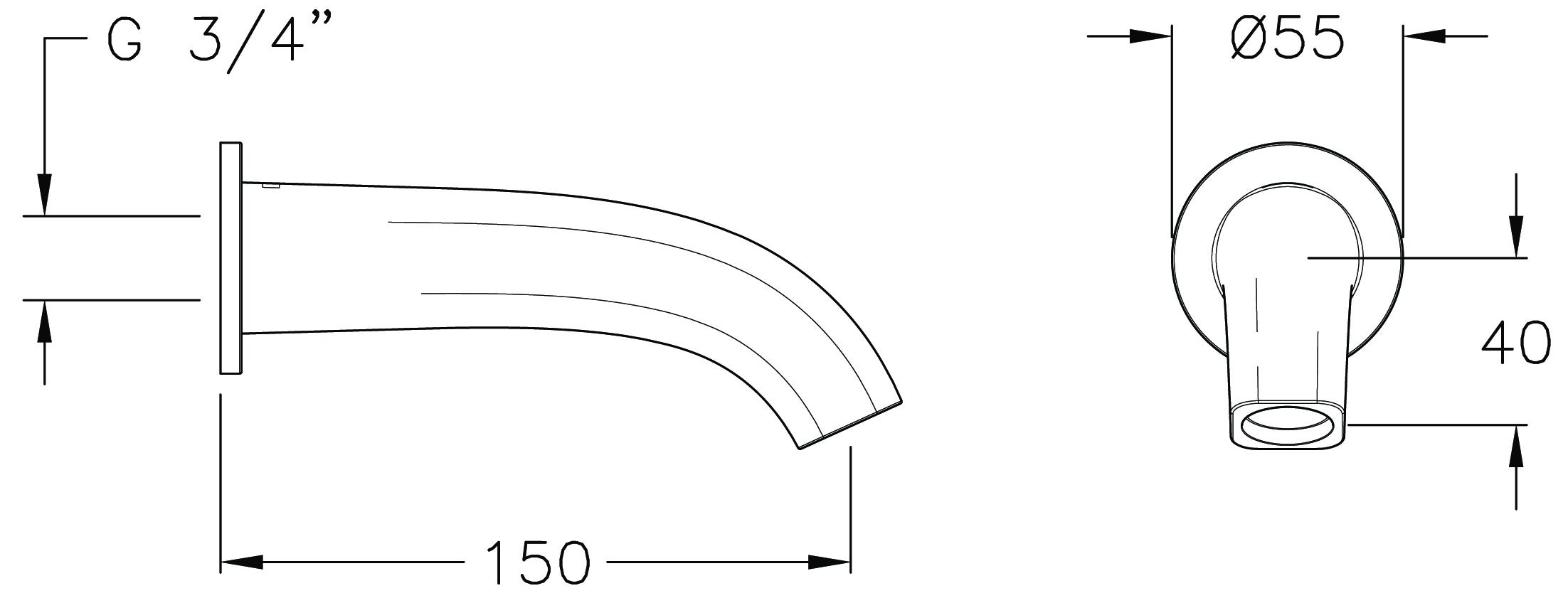 Qube Basin Spout
