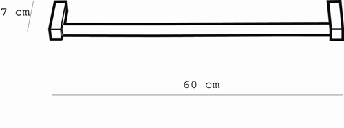 Metric Towel Rail 600mm