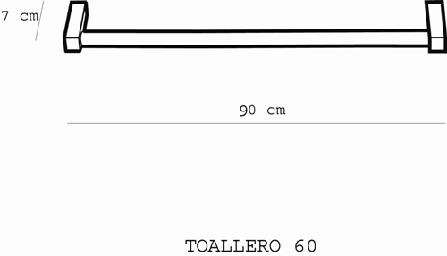 Metric Towel Rail 900mm