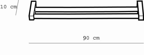 Metric Double Towel Rail 900mm