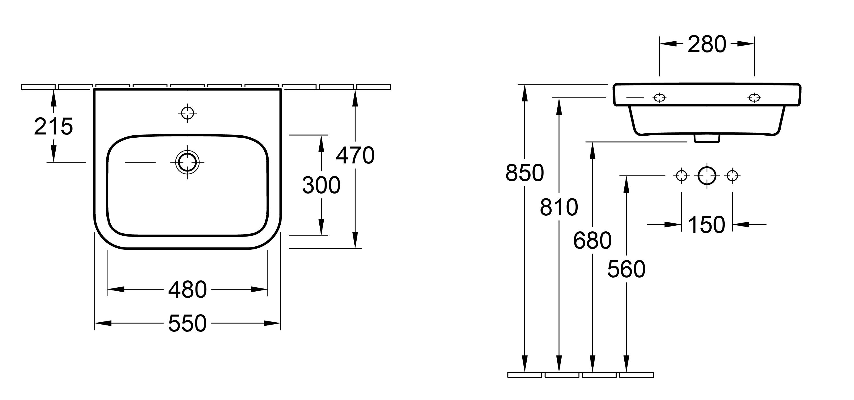 Architectura 550 Wall Basin