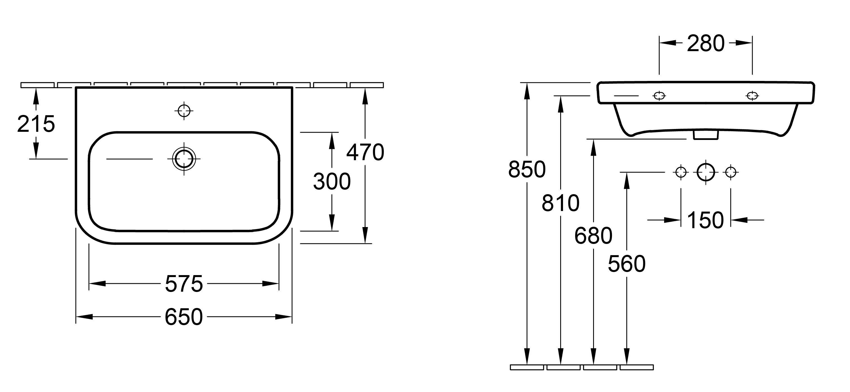 Architectura 650 Wall Basin