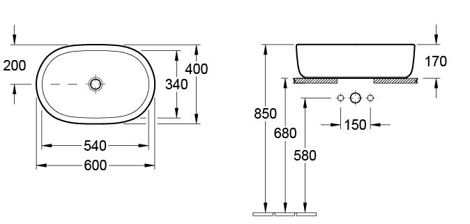 Architectura Oval Vessel Basin