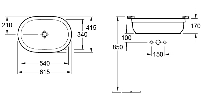 Architectura Oval Under Counter Basin