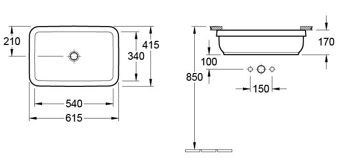 Architectura Rectangular Under Counter Basin