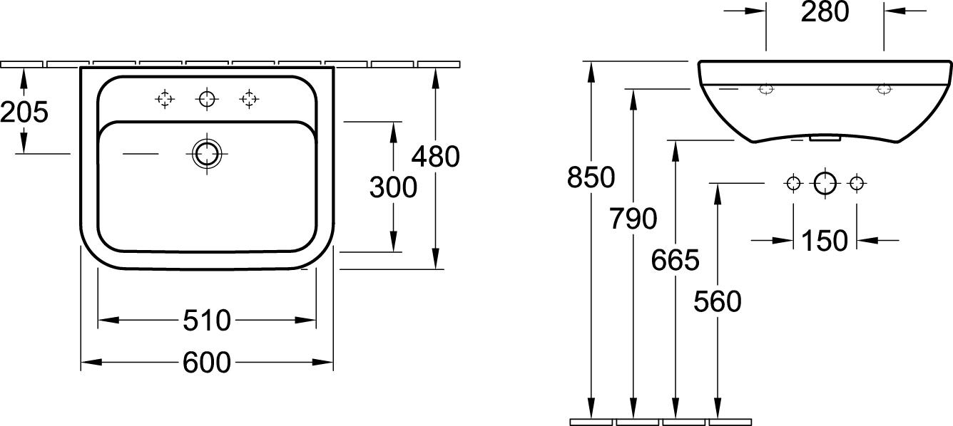 Architectura Wall Basin