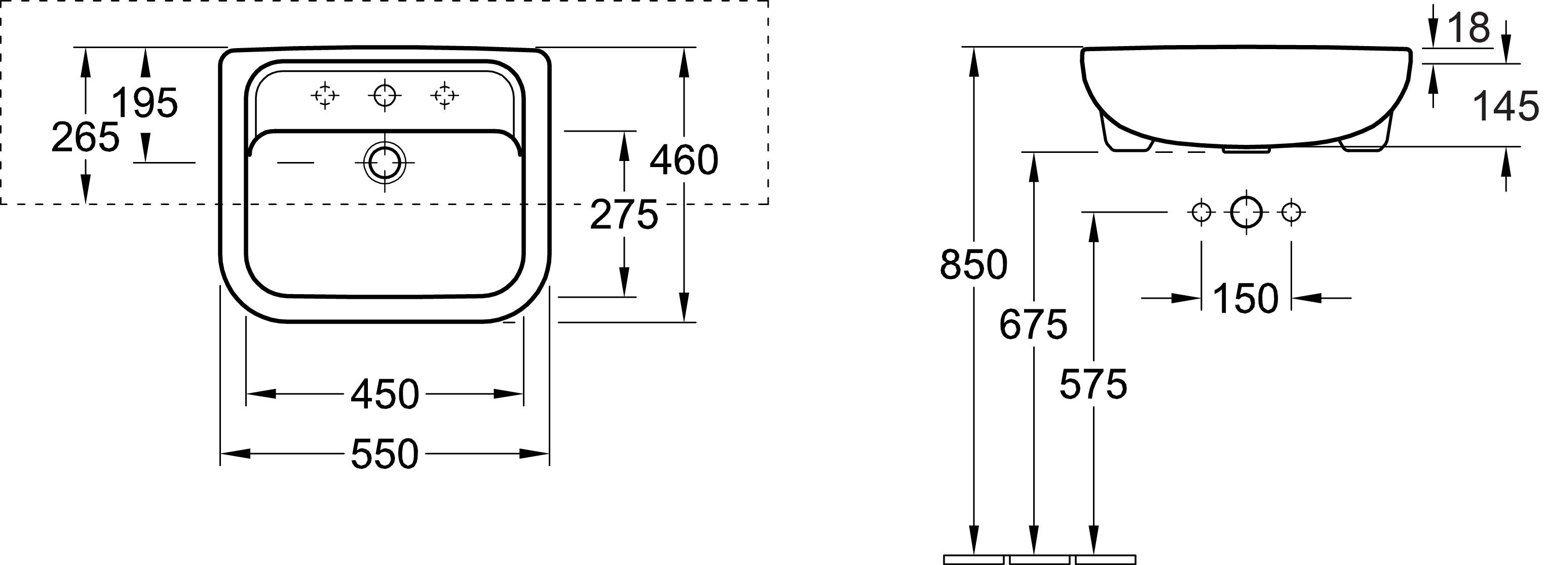 Architectura Semi-Recessed Basin