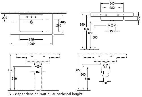 Architectura Single Vanity Basin (1000mm)